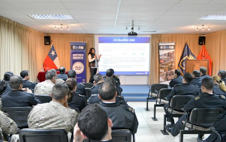 Bienestar de Valparaíso realizó exposición y asesorías al personal de la Academia Politécnica Naval