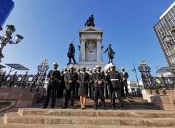 GRUMETES DE LA ESCUELA DE ARMAMENTOS DE LA A.P.N. VISITARON EL MONUMENTO A LOS HÉROES DE IQUIQUE.