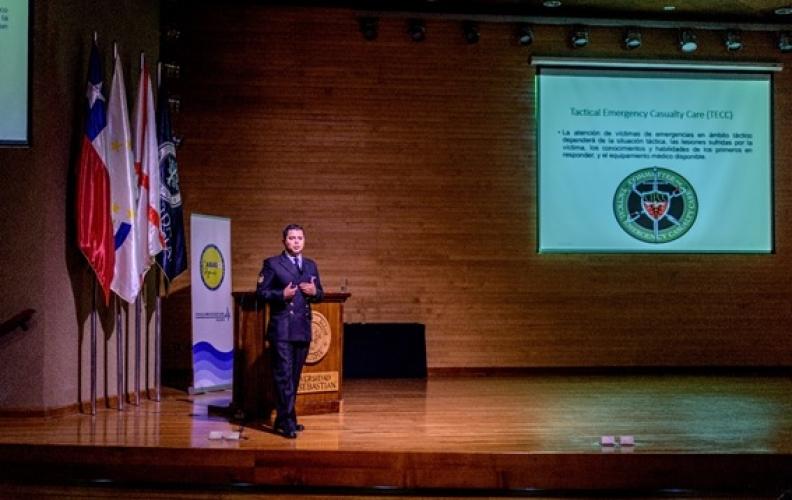 SARGENTO 2º  J. CEPEDA O., EXPUSO EN LA TERCERA JORNADA DE DESASTRES Y EMERGENCIAS PREHOSPITALARIAS.