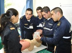 Alumnos de 2° año Enfermería Naval efectuaron Curso R.E.M.A.