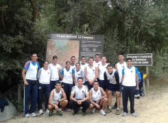 Seleccionado de Cross Country APOLINAV en entrenamiento