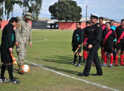 """Campus """"Jaime Charles""""  dio inicio al Campeonato de fútbol  """"16 de Junio""""."""