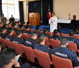 ACADEMIA POLITÉCNICA NAVAL DIO INICIO A SUS ACTIVIDADES RELIGIOSAS PARA GRUMETES 2018.