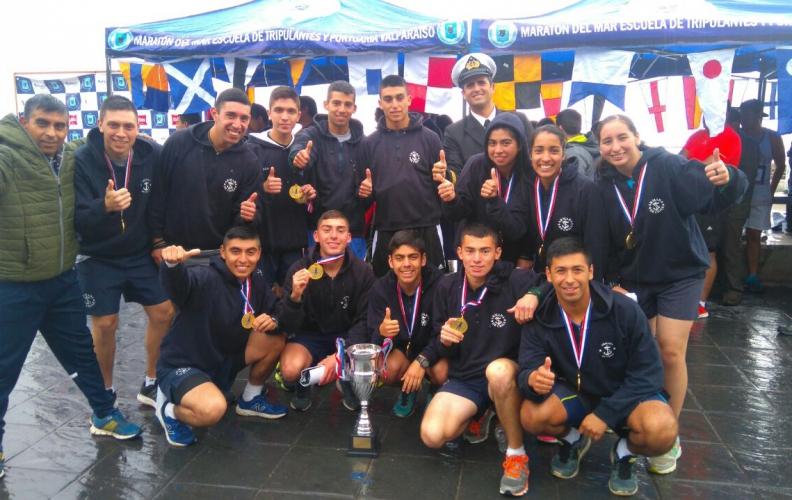 Equipo de Cross Country APOLINAV ganó la Maratón de la Escuela de Tripulantes de Valparaíso